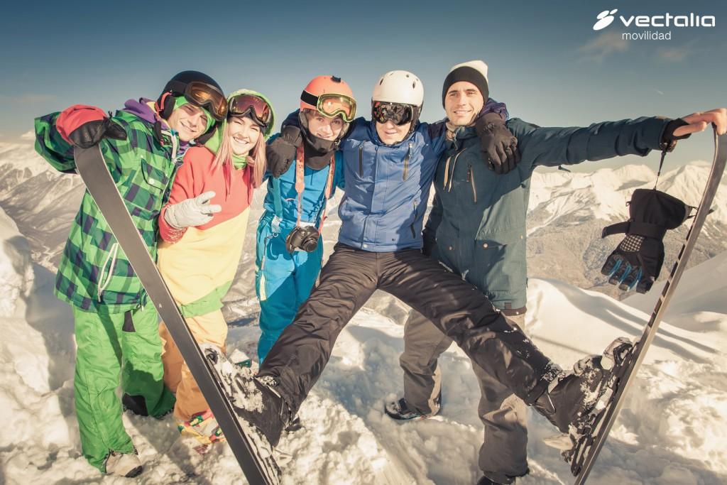 Organizar un viaje a la nieve en bus barato