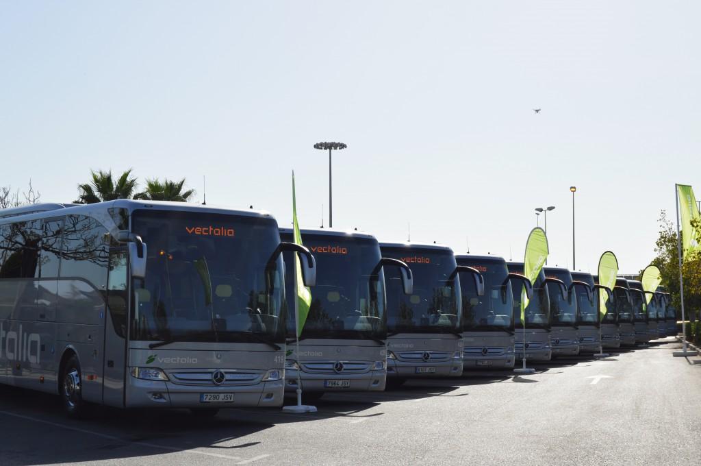 Flota de nuevos autocares de Vectalia